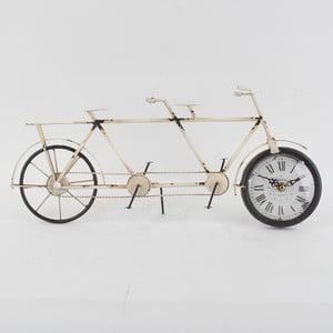 Kovové stolní hodiny Bike