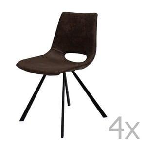 Sada 4 hnědých židlí Canett Coronas Poly