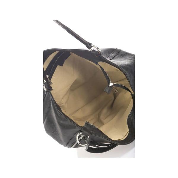 Kožená kabelka Krole Kelly, černá