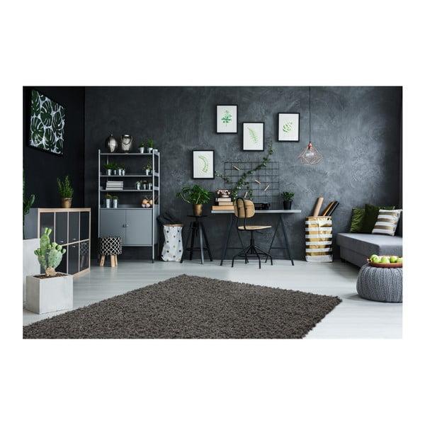 Černý koberec Obsession My Funky Anth, 120 x 170 cm