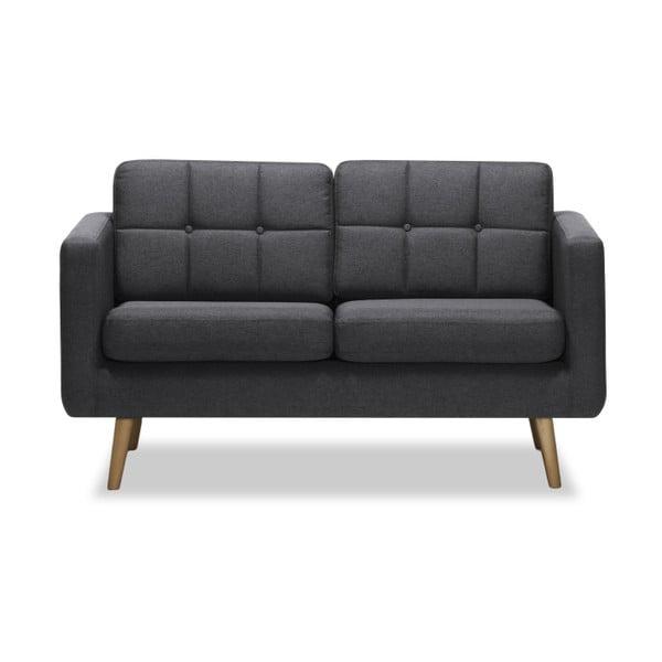 Canapea cu 2 locuri Vivonita Magnus, gri închis