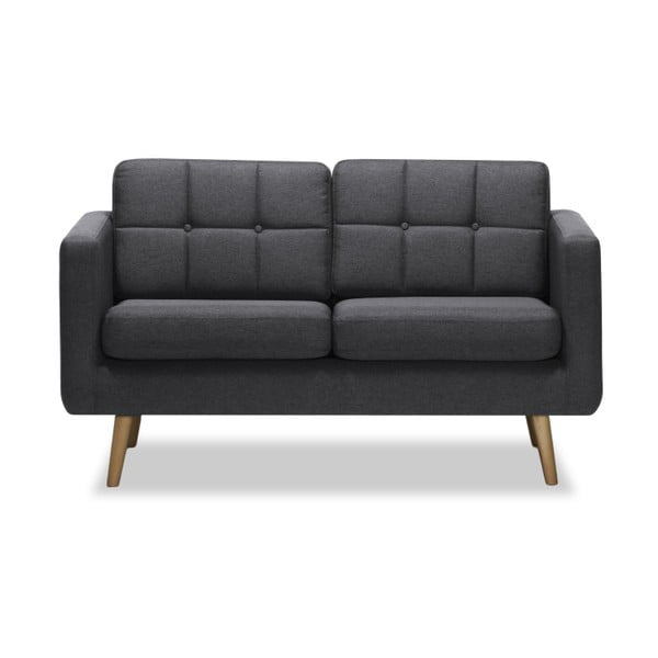 Ciemnoszara sofa 2-osobowa Vivonita Magnus