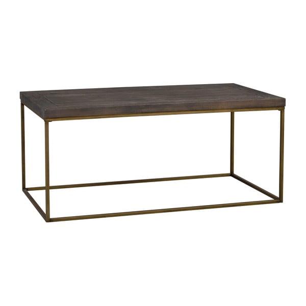 Hnědý dřevěný konferenční stolek Rowico Brogge
