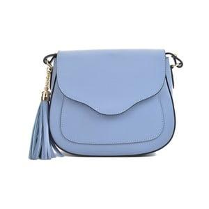 Modrá kožená kabelka Mangotti Bags Karmo