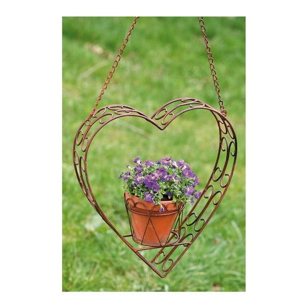 Závěsný držák na květináč Heart