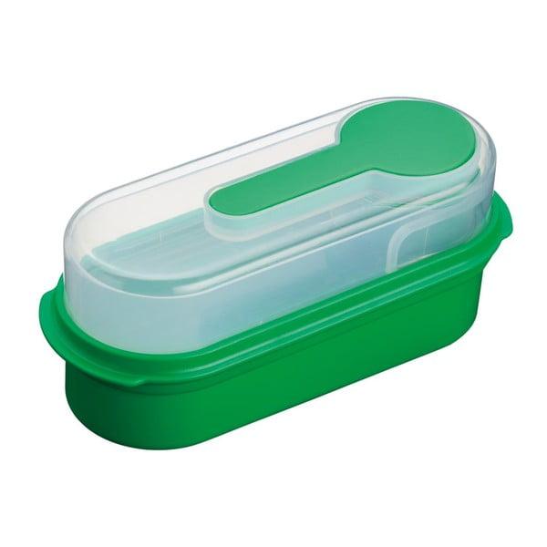 Zelený svačinový box KitchenCraft Coolmovers Rectangular