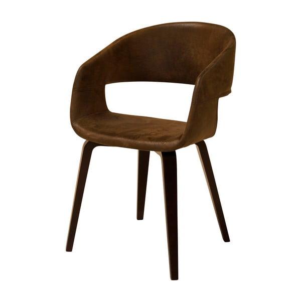 Tmavě hnědá jídelní židle Interstil Nova Nature Kansas