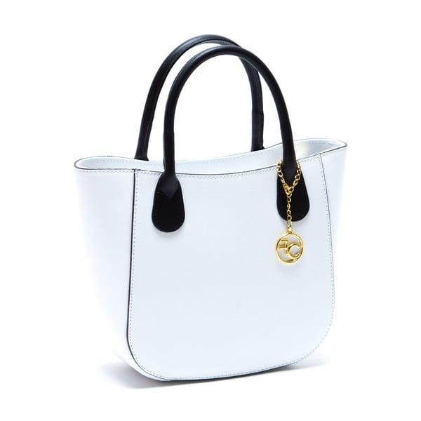 Kožená kabelka Coci, bílá