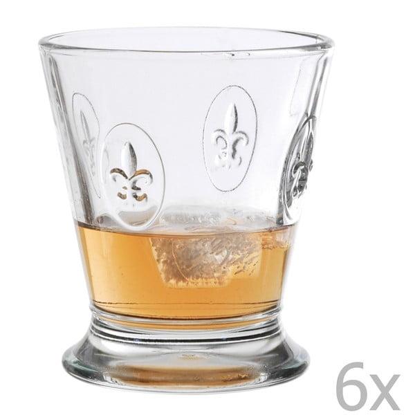 Sada 6 pohárů Fleur de Lys, 250 ml