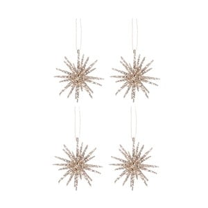 Set 4 dekorací Hanging Glit