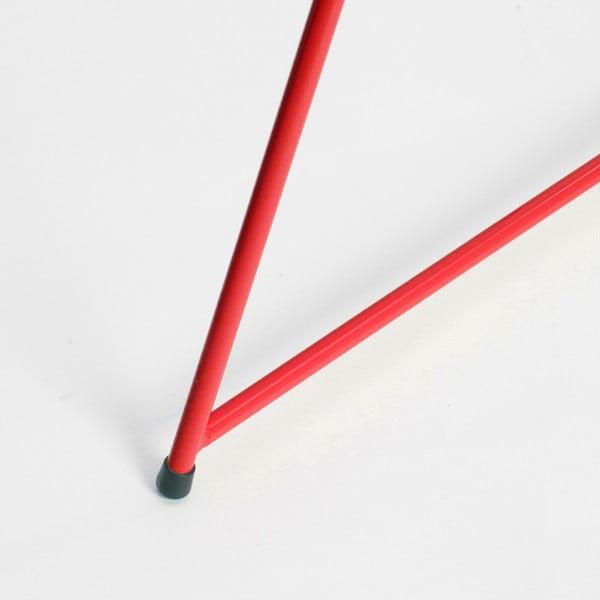 Červená podnož ke stolu Master & Master Diamond Narrow, 70x55cm