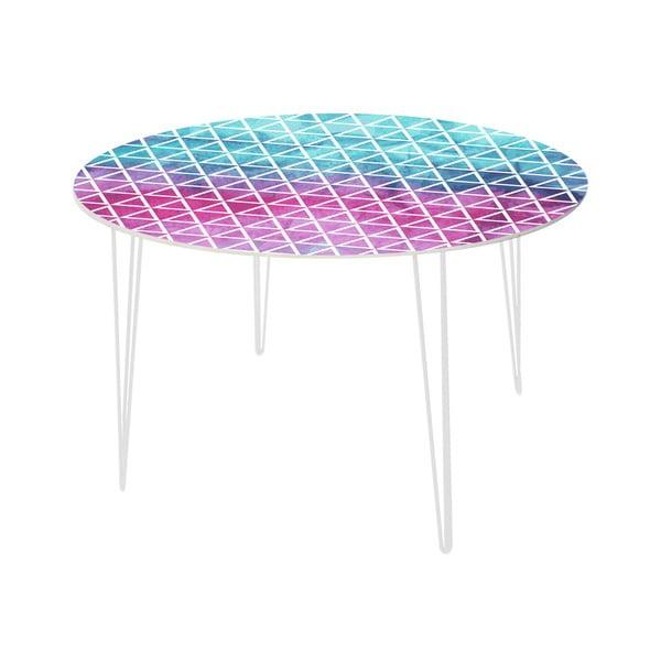 Jídelní stůl Pink and Blue, 120 cm