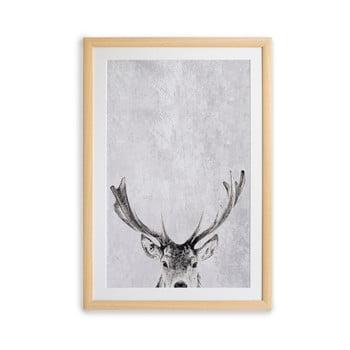 Tablou cu ramă pentru perete Surdic Deer, 35 x 45 cm