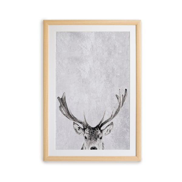 Obraz w ramie Surdic Deer, 35 x 45 cm