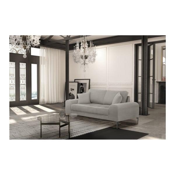 Set canapea gri deschis, 2 scaune crem, o saltea 140 x 200 cm Home Essentials