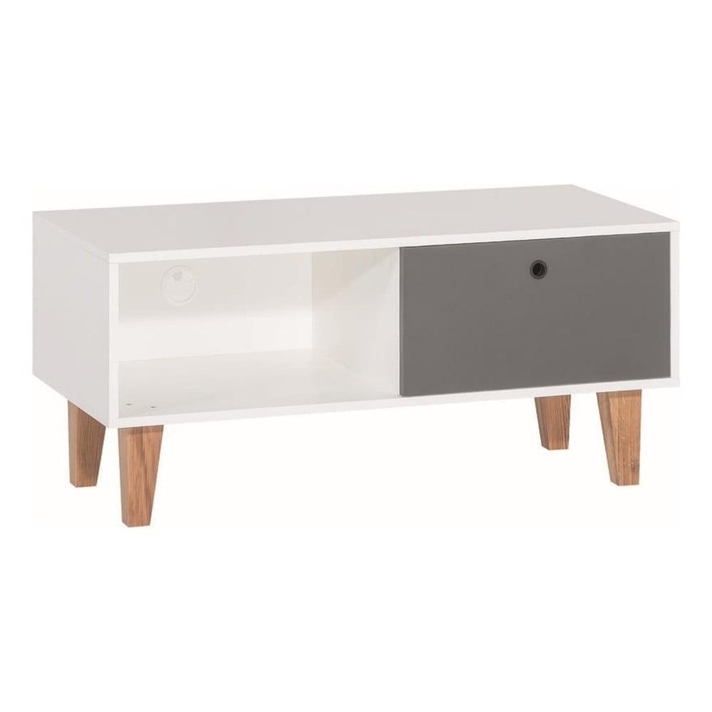 Bílo-šedý TV stolek Vox Concept