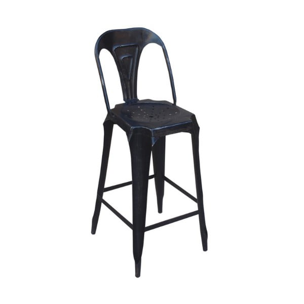 Barová kovová židle Chaise Black