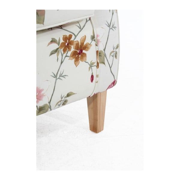 Bílé květované křeslo ušák Max Winzer Lorris