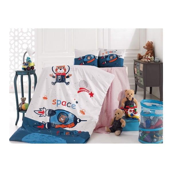 Set dětského bavlněného povlečení Into Space, 100x150cm