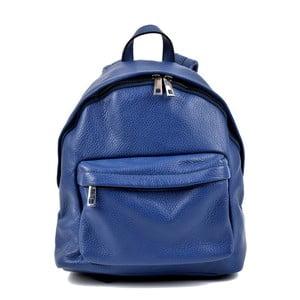 Modrý kožený dámský batoh Roberta M Rahna
