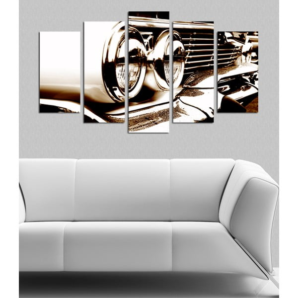 Pětidílný obraz Retro Glamor, 110x60 cm