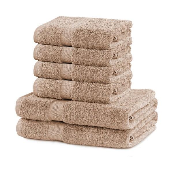 Set 2 béžových osušek a 4 ručníků DecoKing Marina