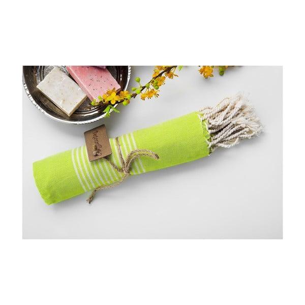 Hamam osuška Line Light Green, 100x180 cm