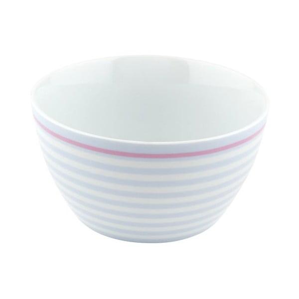 Porcelánová miska Lines, modrá 4 ks