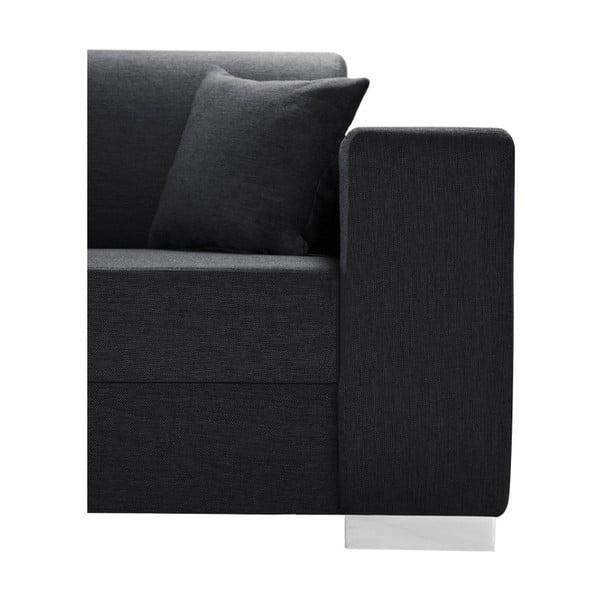 Antracitová sedačka Interieur De Famille Paris Perle, levý roh