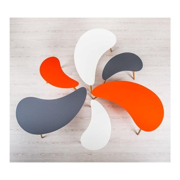 Sada 2 šedých konferenčních stolků Design Twist Jindo