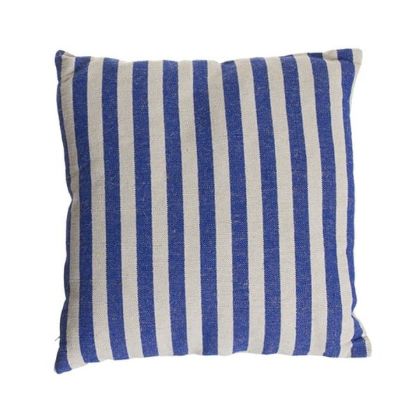 Polštářek Cosas de Casa Stripes, 45x45 cm, modrý