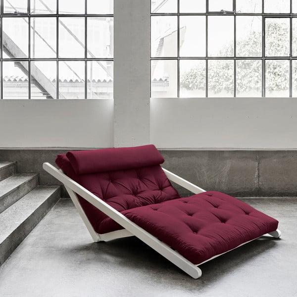 Fotoliu Karup Figo, White/Bordeaux, 120 cm