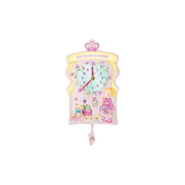 Růžové nástěnné hodiny Parete