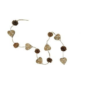 Girlanda Nature Hearts and Pinecones
