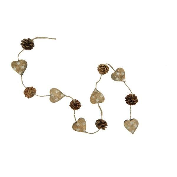 Girlanda Nature Hearts and Pinecones