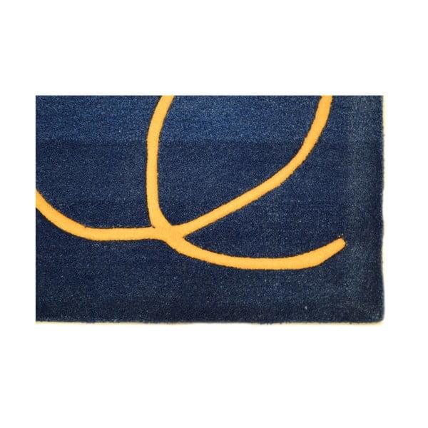 Ručně tkaný koberec Pluto, 170x240 cm, modrý