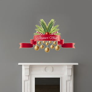 Autocolante Crăciun Ambiance Joyeux Noel