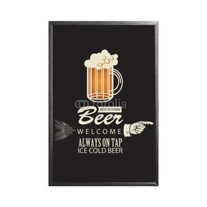 Zarámovaný plakát Beer and Pointing, černý rám