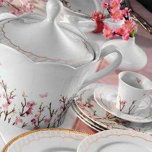 Sada 83 porcelánového nádobí Flower Erik