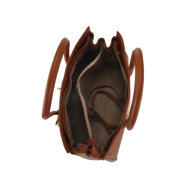 Čokoládová kožená kabelka Florence Gallina