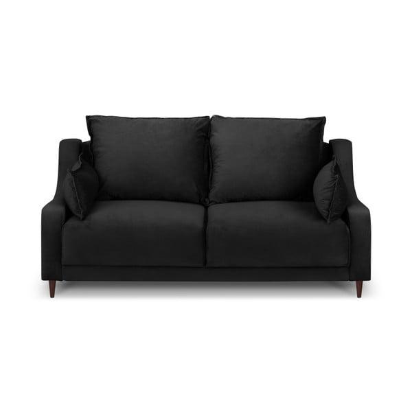 Černá dvoumístná pohovka Mazzini Sofas Freesia