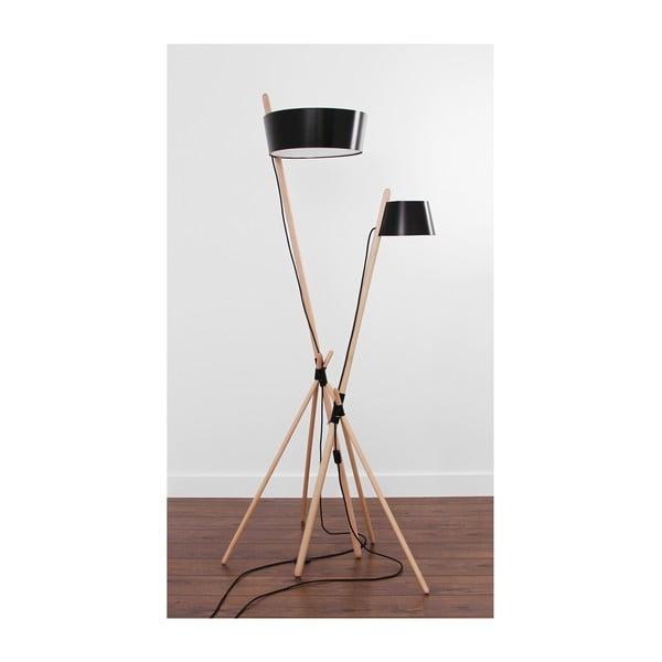 Černá volně stojící lampa Woodendot Ka L
