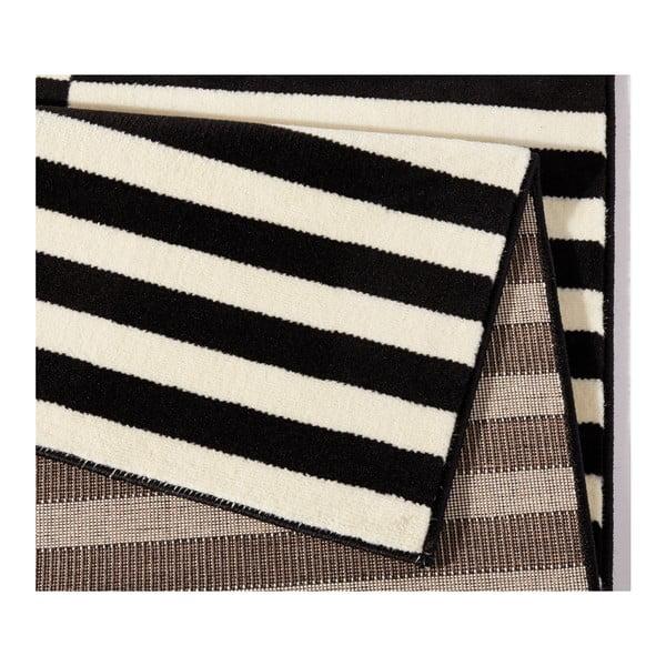 Černobílý koberec Hanse Home Gloria Panel, 80x300cm