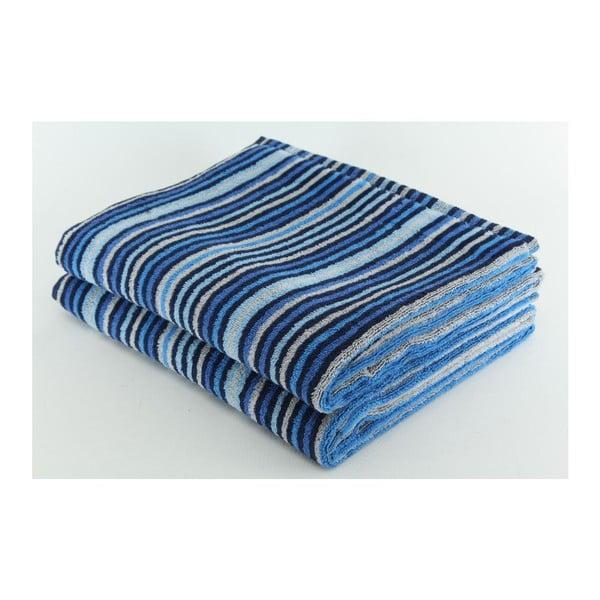 Set 2 osušek Blue Grey, 70x140 cm