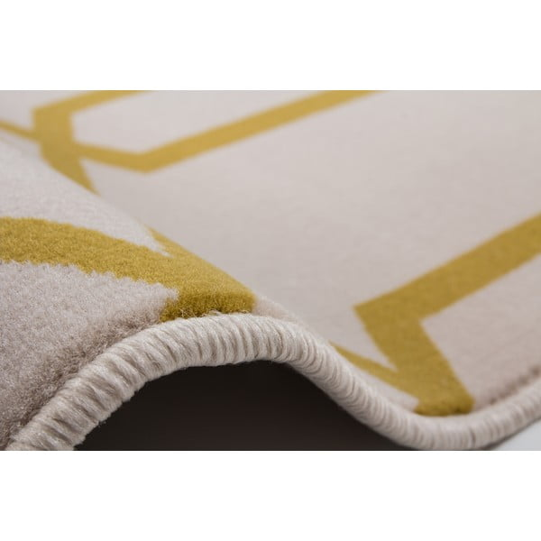 Žluto-šedý koberec Kayoom Stella 400 Yellow, 80x150cm
