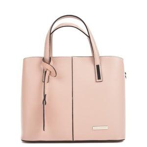 Růžová kožená kabelka Sofia Cardoni Prisca