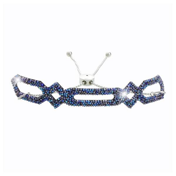 Tmavě modrý náramek s krystaly Swarovski® Yasmine Johanne