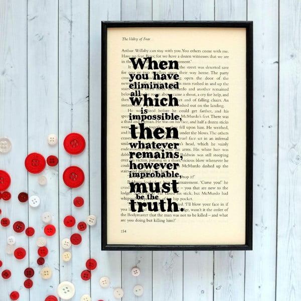 Plakát v dřevěném rámu Sherlock Holmes Impossible