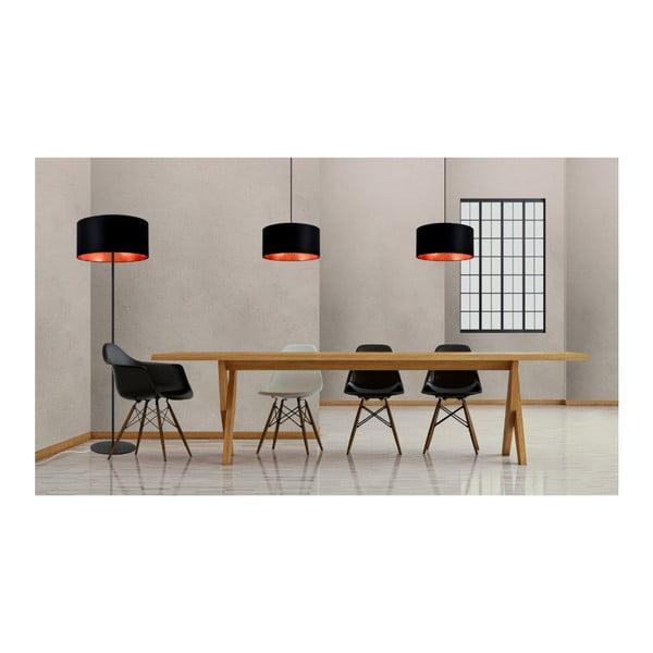 Černé dvojité stropní svítidlo s vnitřkem v měděné barvě Sotto Luce Mika