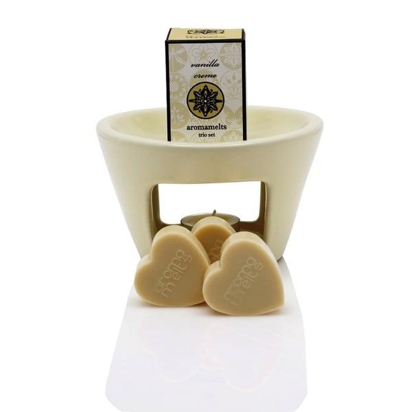 Sweet Home aromalámpa illatos viasszal és vanília illattal, égési idő 30 óra - Ego Dekor